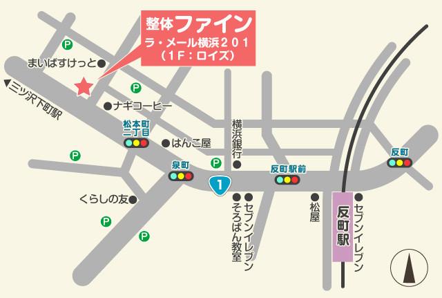 東横線反町駅からの地図